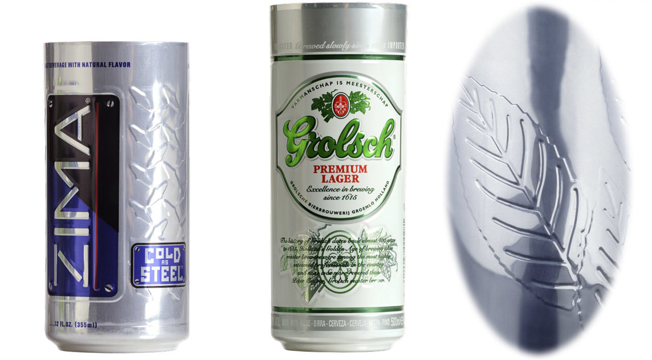 Embossed Can Samples